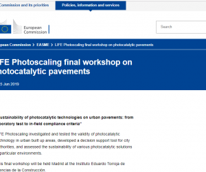 Project Final Workshop is announced in the official website of the European Commission