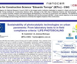 Eva Jiménez presents LIFE PhotoScaling at NANOCEM Consortium Autumn events 2019